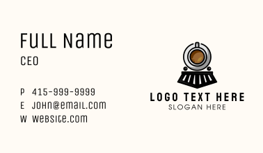 Coffee Train Business Card