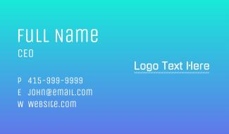 Futuristic Tech Wordmark Business Card