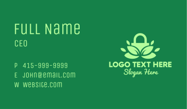 Green Eco Security Lock Business Card