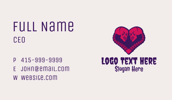 skeletal - Gothic Skull Lover Business card horizontal design