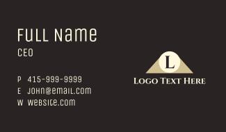 Spotlight Letter Business Card