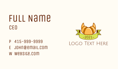 Croissant Bakery Banner Business Card