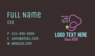 Neon Star Comet Media Business Card