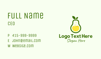 Healthy Pear Juice Business Card