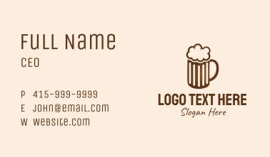 Brown Beer Mug Business Card