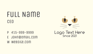 Domestic Cat Food Business Card