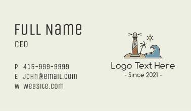 Coastal Wave Lighthosue Business Card