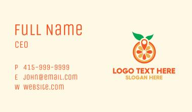 Orange Juice Pin Business Card