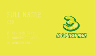 Graphic Gloss Number 3 Business Card