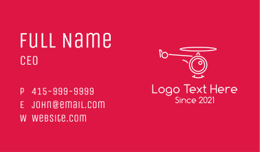 Minimalist Helicopter Camera Business Card