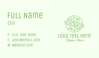Green Swan Circle Business Card