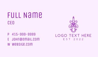 Minimalist Purple Wine Bottle Business Card