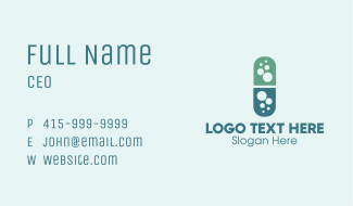 Bubble Pill Pharmaceutics Business Card