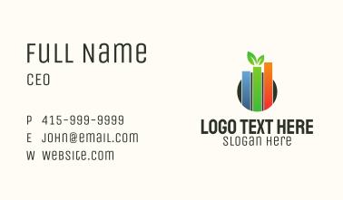 Eco Leaf Chart Business Card