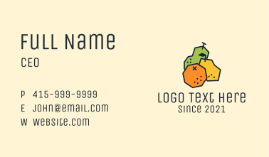 Geometric Fresh Fruit Business Card