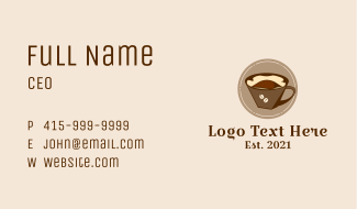 Coffee Filter Brew Business Card