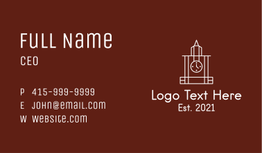 White Tower Clock  Business Card