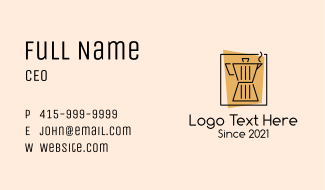 Simple Coffee Maker Business Card