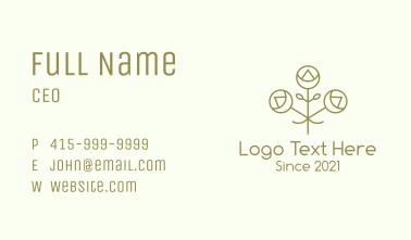 Minimalist Decorative Flower Business Card