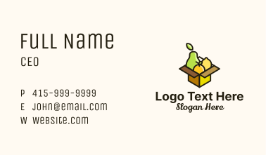 Healthy Fruit Box Business Card