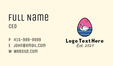 Swan Egg Business Card