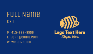 Yellow Butterfly Fish Business Card