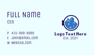 City Laundry Cleaner  Business Card