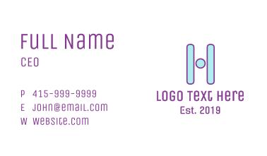 Tech Letter H Business Card