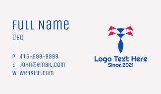 Razor Letter T  Business Card