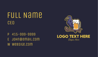 Crow Beer Business Card