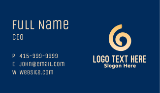 Swirly Noodle Business Card