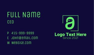 Game Console Letter A Business Card
