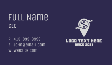 Bicycle Pedal Navigation  Business Card