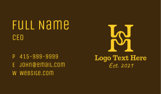 Premium Coffee Letter H Business Card