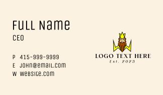 Zeus Lightning Bolt Mascot Business Card