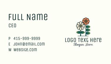Botanical Flower Garden Business Card