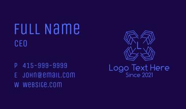 Cyber Tech Letter Business Card