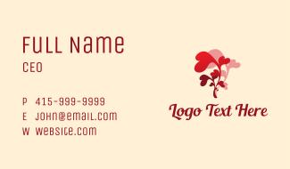 Heart Flower Florist Business Card