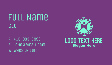 Virus Infected Person  Business Card