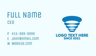 Blue Abstract Tornado Business Card
