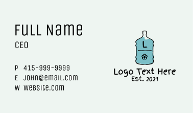 Rustic Water Station Letter Business Card