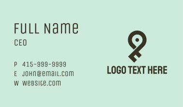 Key Location Pin  Business Card
