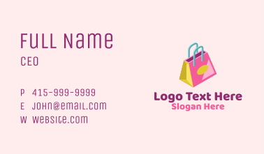 Isometric Shopping Bag Business Card