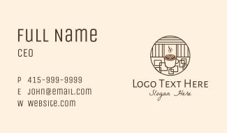 Minimalist Coffee Shop  Business Card