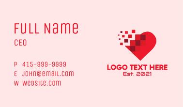 Digital Pixel Heart  Business Card