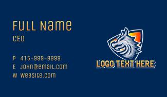 Dragon Shield Mascot Business Card