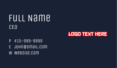 Japanese Ninja Wordmark Business Card