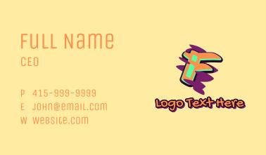 Graffiti Art Letter F Business Card