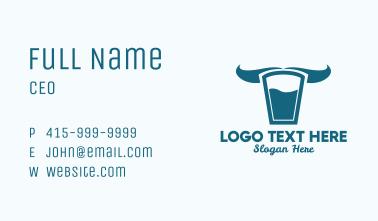 Milk Glass Horns  Business Card