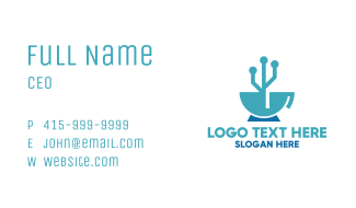 Technological Coffee Business Card
